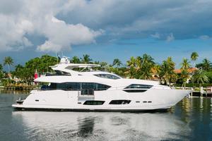 95' Sunseeker 95 Yacht 2017 Zero Speed Stabilizers provides comfort even when