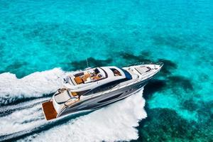 74' Princess S72 2015 Manufacturer Provided Image: Princess S72 Aerial View