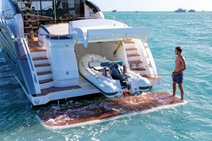 74' Princess S72 2015 Manufacturer Provided Image: Princess S72 Bathing Platform