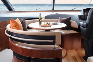 74' Princess S72 2015 Manufacturer Provided Image: Princess S72 Dining Area