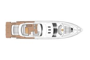 74' Princess S72 2015 Manufacturer Provided Image: Princess S72 Flybridge Layout Plan