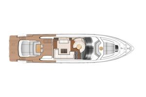 74' Princess S72 2015 Manufacturer Provided Image: Princess S72 Upper Deck Layout Plan