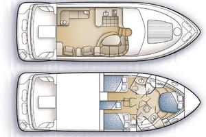 46' Carver 46 Voyager 2005 Manufacturer Provided Image: Layout