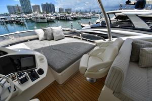 88' Sunseeker 88 Yacht 2012 Sun pad on Flybridge