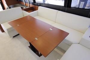50' Prestige 500 Flybridge 2014 Salon Table Open