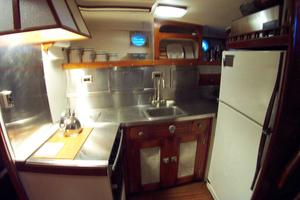 57' Trumpy CPMY 1960 Galley