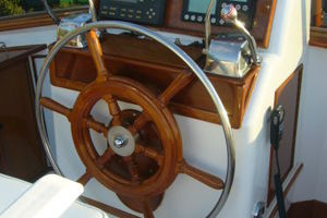 57' Trumpy CPMY 1960 Flybridge Helm