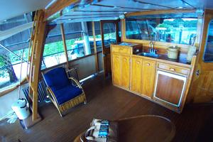 57' Trumpy CPMY 1960 Flush Deck to Portside