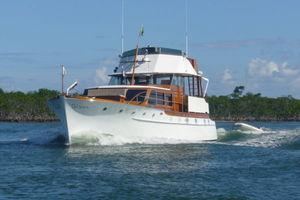 57' Trumpy CPMY 1960 Port Bow Underway