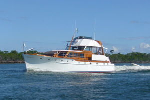 57' Trumpy CPMY 1960 Port Underway