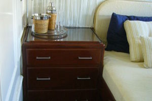 57' Trumpy Cpmy 1960 Night Stand in VIP Guest Stateroom