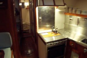 57' Trumpy Cpmy 1960 Passageway through Galley to Crew Quarters
