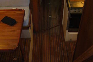 57' Trumpy CPMY 1960 Galley/Dinette Passageway to Crew Quarters