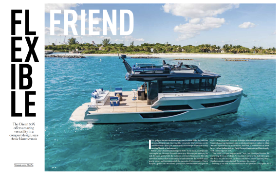 Okean 50 X - Feature Article in 1224 Boat International Supplement