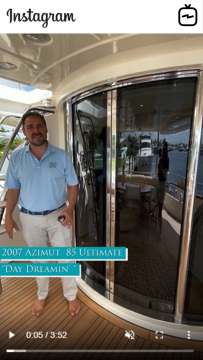 Watch IGTV Video - 2007 Azimut 85' Ultimate -DAY DREAMIN'