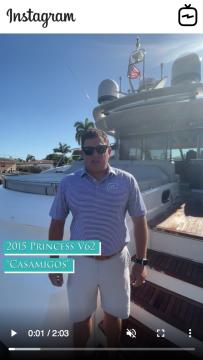 WATCH IGTV VIDEO - 2015 Princess V62 - Casamigos