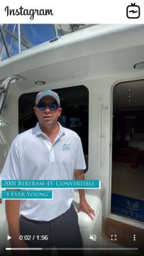Watch IGTV Video - 2001 Bertram 45' Convertible