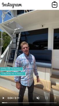 WATCH IGTV VIDEO - 1996 Viking 58u2019 - Tropical Chill