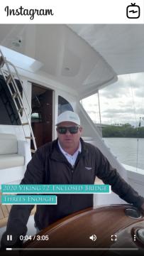 Watch IGTV Video - 2020 Viking 72' Enclosed Bridge - Threeu2019s Enough