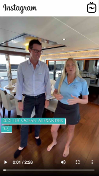 Watch IGTV Video - 2021 Ocean Alexander 118u2019 36L u2013 Q