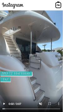 WATCH IGTV VIDEO - 2013 Hatteras 72 Motor Yacht - Taz