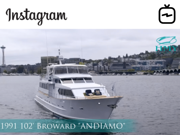Watch IGTV Video 1991 Broward 102 Motoryacht - Andiamo