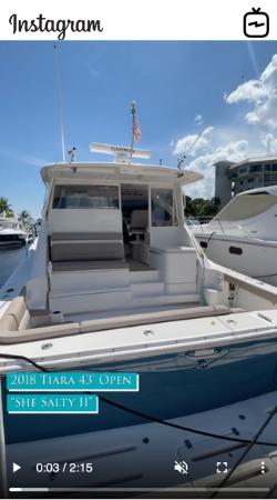 Watch IGTV Video 2018 Tiara Yachts 43 Open - She Salty II